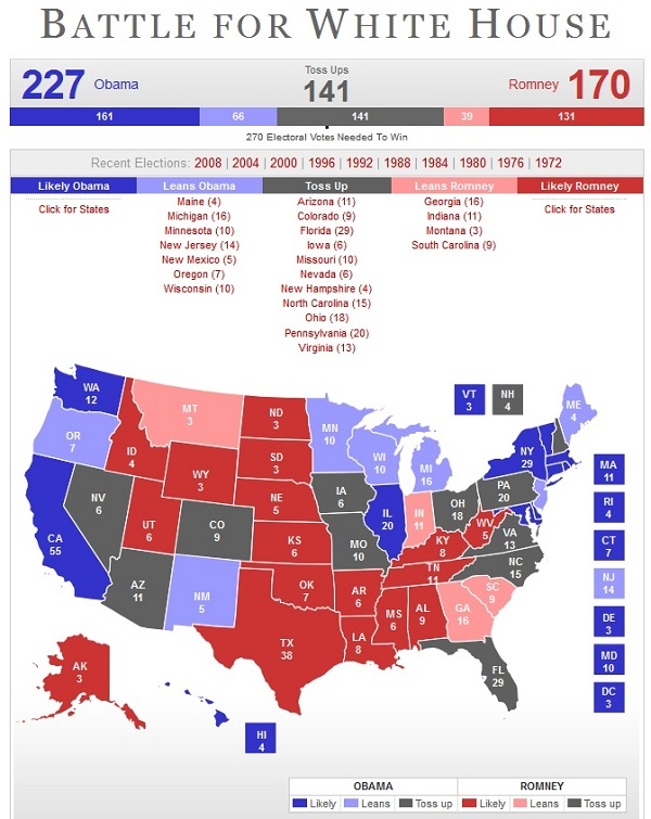 Battle for the WH EC Chart President 2012: State of the Race for the Presidency: April 25, 2012