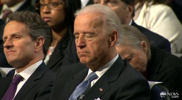 Biden sleeping Video: VP Joe Biden Falls Asleep During President Obamas Deficit Reduction Speech