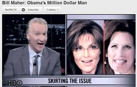 Bill Maher and ShePAC The Morning Flap: March 9, 2012