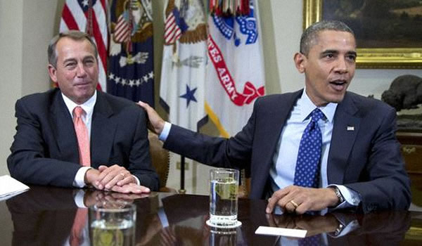 Boehner and Obama The House Fiscal Cliff Strategy: Shut Up and Pass a Bill