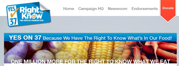 CA Prop 37 Right To Know California Proposition 37: I Have a Right to Know