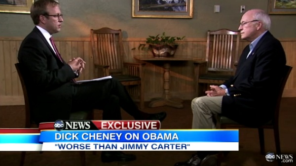 Cheney Interview Cheney: Obama Worse Than Carter   One of Our Weakest Presidents