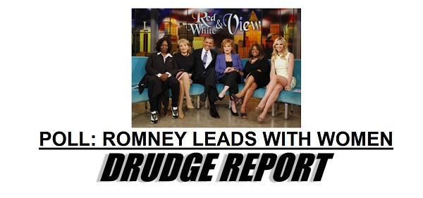 Drudge Romney Leading Obama With Women President 2012 Poll: Romney Leads Obama With Women