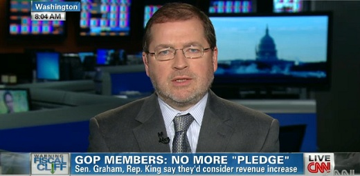 Grover Norquist on CNN Republicans Jumping Off The No Tax Increase Fiscal Cliff?