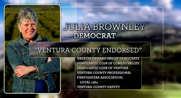 Julia Brownley Super PAC Ad CA 26: Julia Brownley and the B List