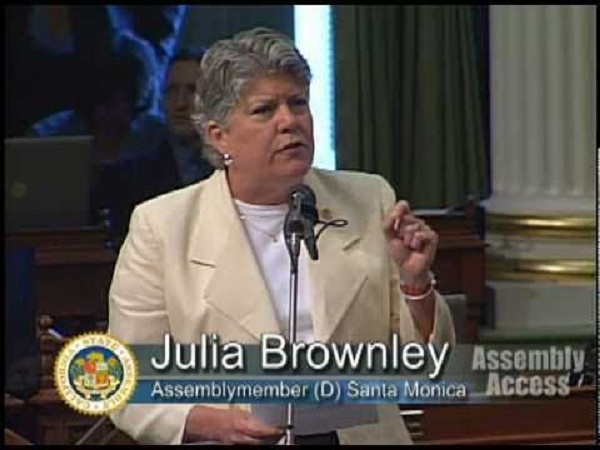 California Assemblywoman Julia Brownley speaking