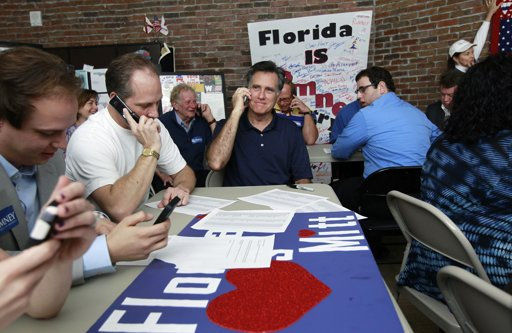 Mitt Romney calls President 2012 GOP Poll Watch: Trouble Ahead for Romney After Florida?
