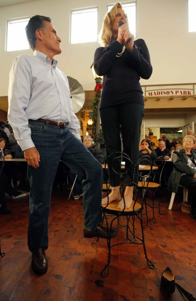 Mitt and Ann romney President 2012 GOP Poll Watch: Romney Now Leading Gingrich in National Poll