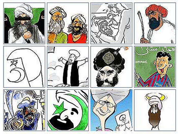 broken leg cartoon. Cartoons of Mohammed.