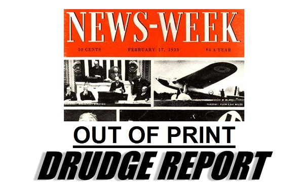 Drudge Screencap: Newsweek Out of Print
