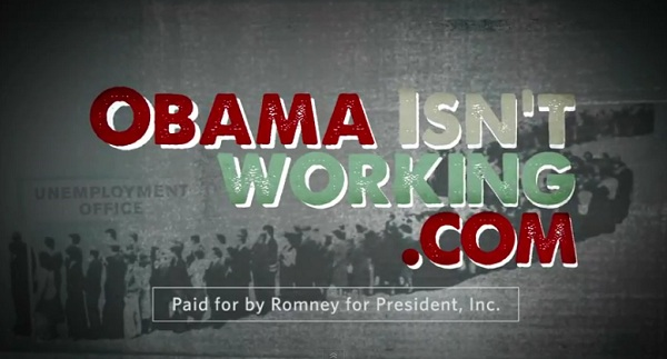 Obama Isnt working President 2012: Romney Up With Web Ad About Unemployment in Key Battleground State of North Carolina