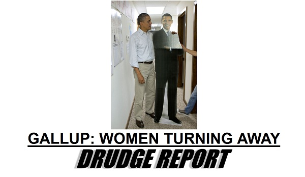 Drudge Screencap of Obama and cut out model