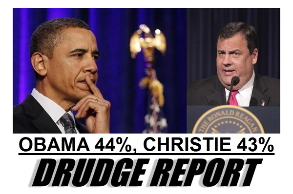Obama and Christie President 2012 Poll Watch: Romney 44% Vs. Obama 42% and Obama 44% Vs. Christie 43%