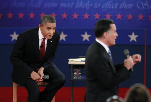 Obama and Romney at debate The Morning Flap: October 17, 2012