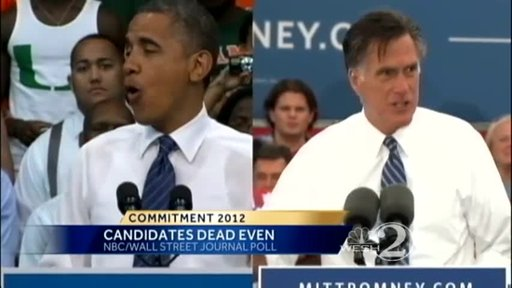 Obama and Romney Campaigning