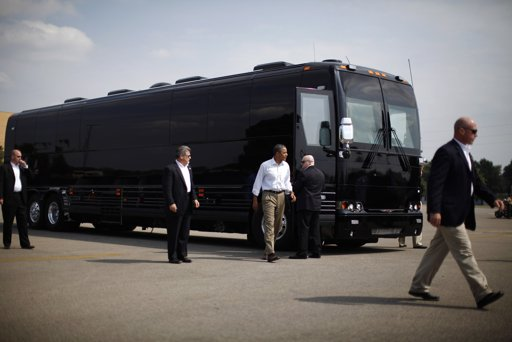 Obama bus Photo of the Day: Obamas Canadian Made Bus