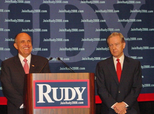Pete Wilson and Rudy Giuliani President 2012: Former California Governor Pete Wilson Endorses Mitt Romney for President