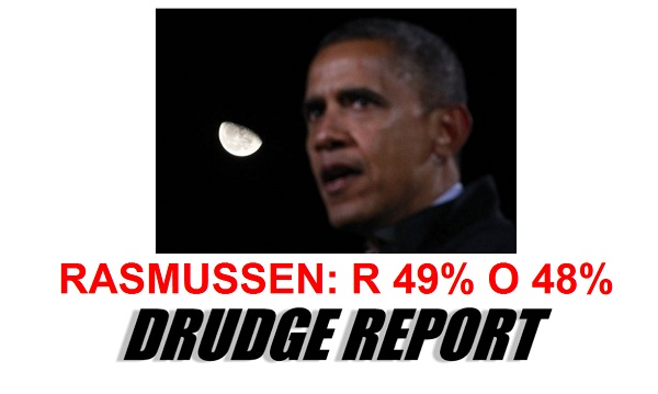 Rasmussen Poll Romney 49 vs. Obama 48