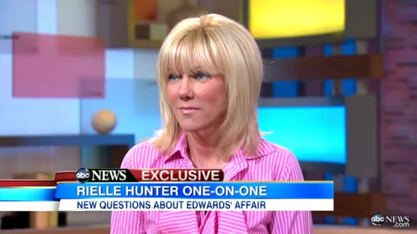 Reille Hunter Rielle Hunter and John Edwards No Longer a Couple