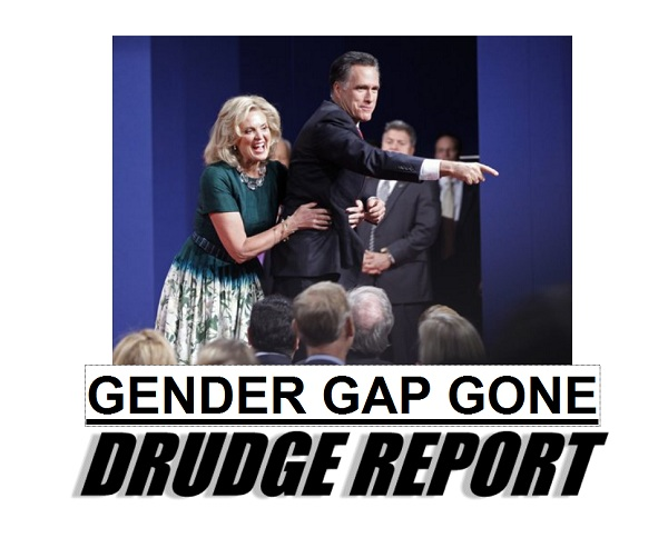 Drudge: Romney Gender Gap Gone