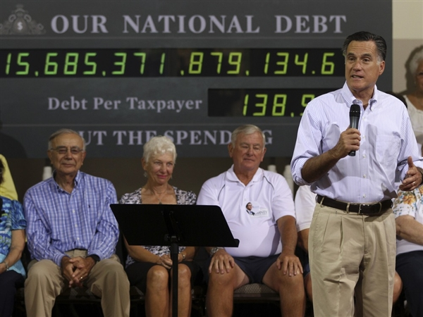 Romney and Debt Clock The Morning Flap: May 17, 2012