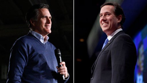 Romney and Santorum President 2012 GOP Poll Watch: Santorum 39% Vs. Romney 27% Vs.  Gingrich 15% Vs.  Paul 10%