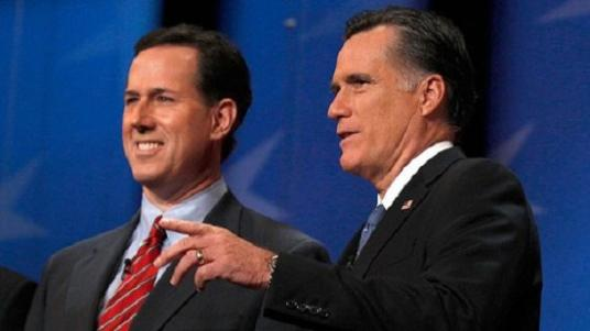 Romney and Santorum1 The Morning Flap: February 16, 2012