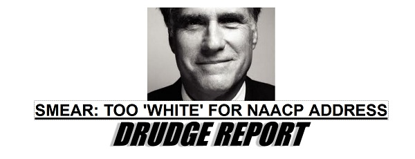 Romney too White Is Mitt Romney Too White for NAACP Address?
