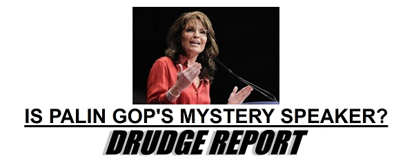 Sarah Palin at GOP Convention Will Sarah Palin be the Mystery Speaker at the Republican National Convention?