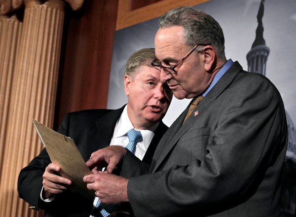 Senators Chuck Schumer and Lindsey Graham