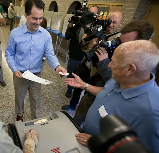 Scott Walker votes The Morning Flap: June 5, 2012