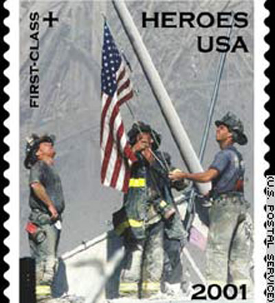 September 11 postage stamp 12 Years: September 11, 2001: NEVER FORGET