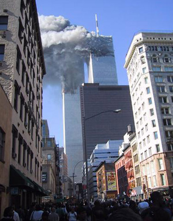 September 11 Towers Burning