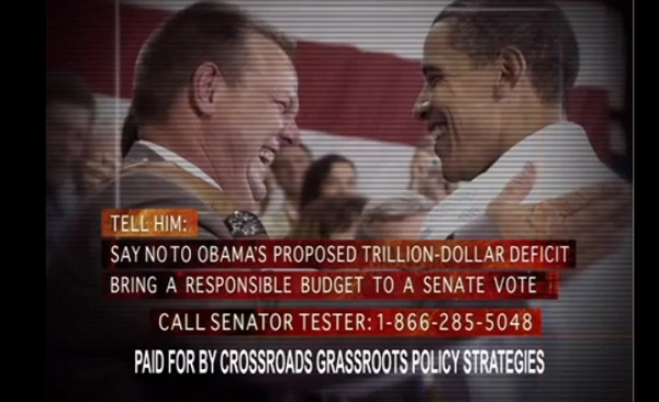 Tester and Obama MT Sen Video: GOP Super PAC Links Sen Jon Tester and Obama