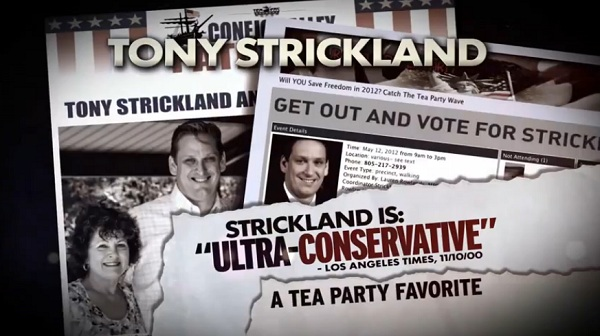 TV Ad Calling Tony Strickland an Ultra Conservative