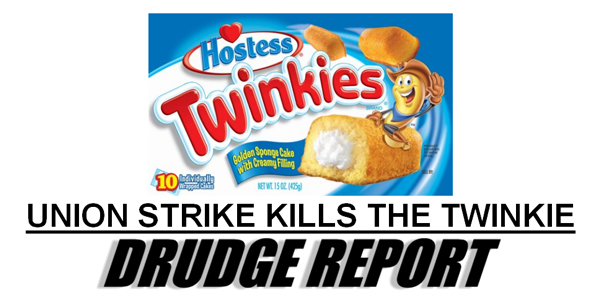 Union Kills the Twinkie The Morning Flap: November 16, 2012