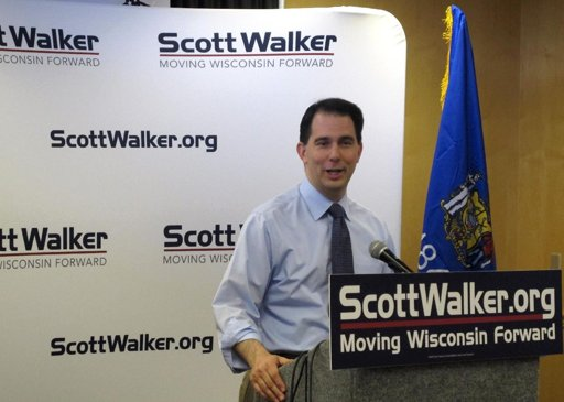 Walker Scott Walker Leads in New Poll: 52% Vs. 43%