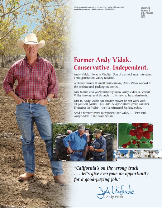 andy vidak Scott Wilk Organizes Support for Andy Vidak in California State Senate Race