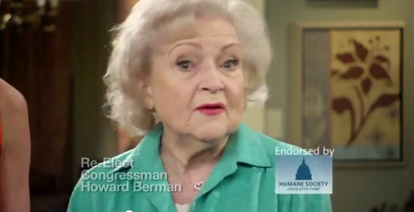 betty white CA 30: Rep Howard Berman Receives Two Important Endorsements Today