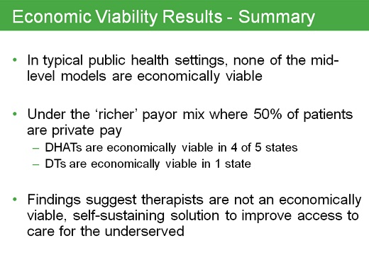 economic viability summary New Study Questions Economic Viability of Dental Therapists