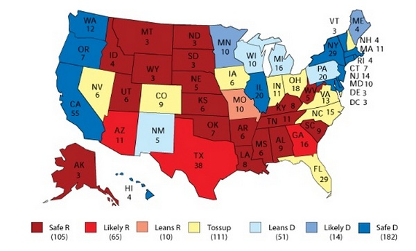 electoral college President 2012 GOP Virginia Poll Watch: Romney 45% Vs. Obama 37% and Perry 42% Vs. Obama 40%