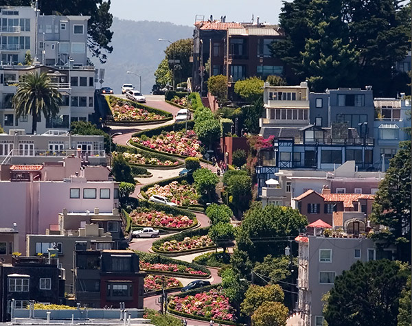 lombard street in san francisco Flaps California Morning Collection: June 17, 2011
