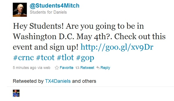mitch President 2012: Is the Draft for Mitch Daniels Real?