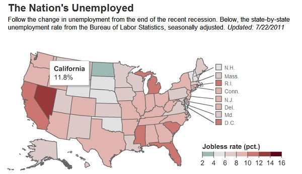 national unemployment American Unemployment Increases in 28 States in June