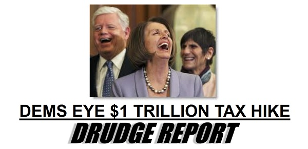Drudge Screencap Democrats Eye Tax Increase
