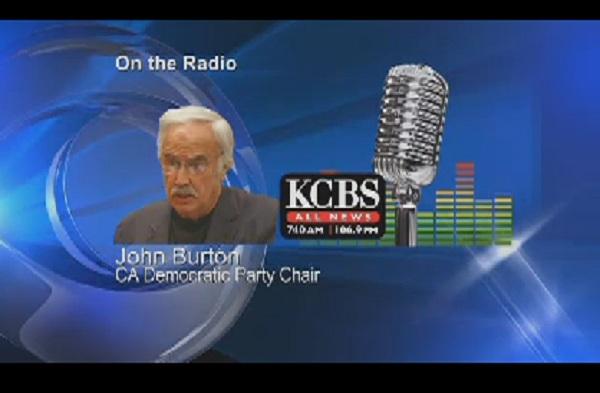 California Democratic Chairman John Burton