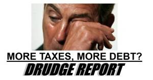 Drudge Screencap of Boehner Crying