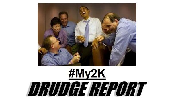 Drudge Screencap of Obama hashtag #MY2K