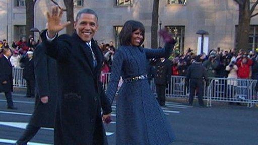 Obama inauguration walk