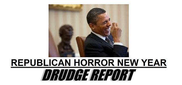 Drudge screencap Obama laughing over fiscal cliff deal